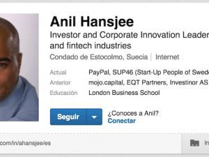 Perfiles de LinkedIn que acojonan: Anil Hansjee